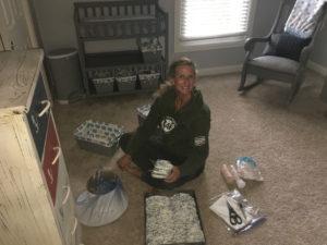 Meredith Kessler fixing up baby room