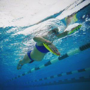Meredith Kessler swimming baby bump Roka Sports