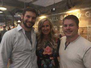 Meredith Kessler hanging with husband Aaron Kessler and friend Matt Cochard