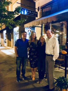 Meredith Kessler with inlaws and husband at Asterisk in Westerville Ohio