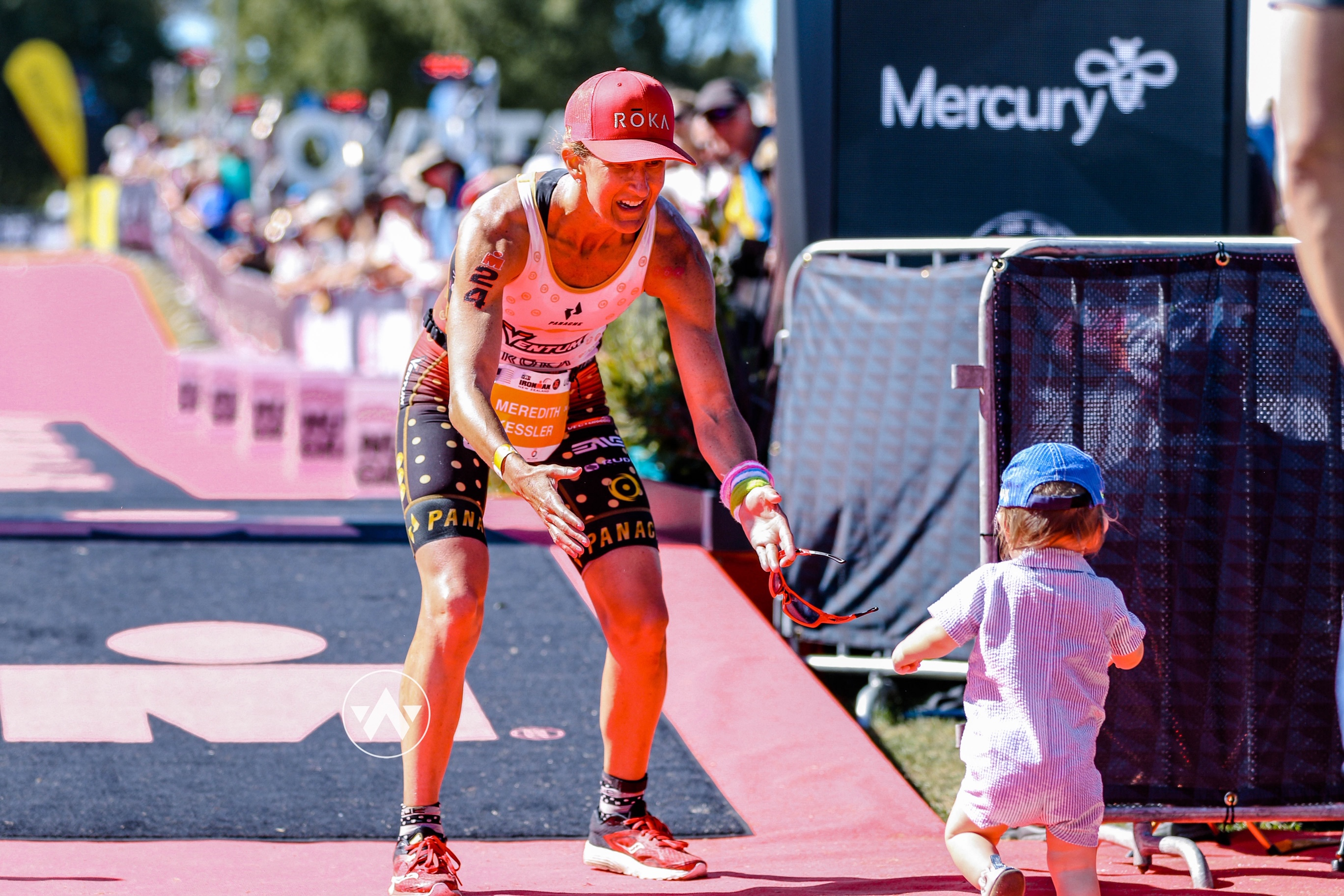 Meredith Kessler Professional Triathlete Finish Line 2019 Ironman New Zealand